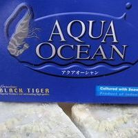 【twinブロック】海水養殖無頭ブラックタイガー海老16/20のサムネイル