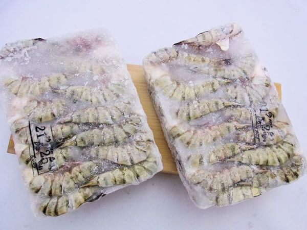 【twinブロック】海水養殖無頭ブラックタイガー海老13/15のサムネイル