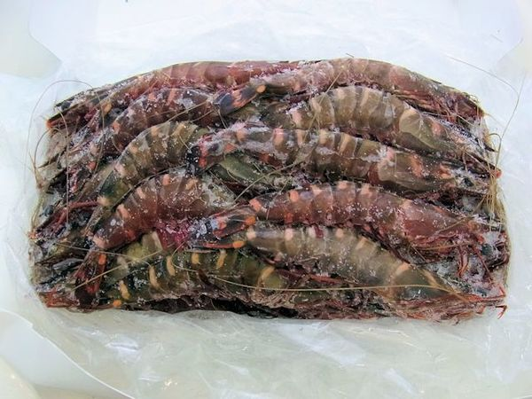「天然」有頭ブラックタイガー海老(シータイガー) 35尾のサムネイル